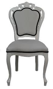 Casa Padrino Luxus Barock Esszimmer Stuhl In Weißschwarz Designer Stuhl Luxus Qualität