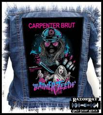 carpenter brut leather teeth backpatch back patch jpg