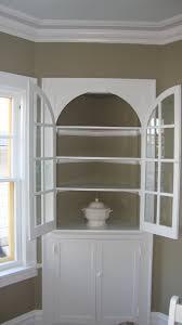 White Corner China Cabinet Cabinets - Dining room corner hutch