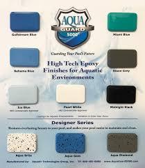 Sample Board Of Aquaguard 5000 Epoxy Pool Paint Color Chart