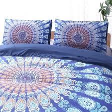wish bohemian mandala purple blue bedding set queen king size flat pillowcase comforter duvet pillow cover and reversible b