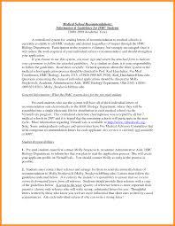 Recommendation Letter Medical School Bio Letter Format