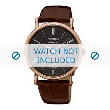 seiko watch strap srk038p1 srk040p1 6g28 00x0 leather brown 21mm zoom