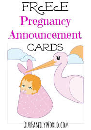 Pregnancy Announcement Printables Great Free Pregnancy Announcement Cards
