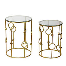 gold end table. Amazon Com Joveco Gold End Tables With Glass Top Decorative For Throughout Decorations 5 Table