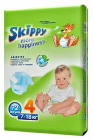 <b>Skippy подгузники More</b> Happiness 4 (7-18 кг) 72 шт. купить с ...