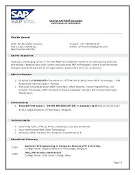 Sap Sd Sample Resume Letter Resume Directory