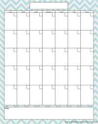 editable monthly calendar template blank chore calendar blue on light free printable downloads