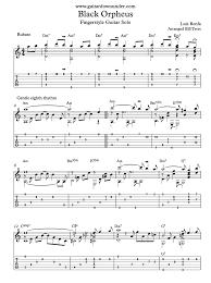 Guitar Solo Chart Black Orpheus By Luiz Bonfa