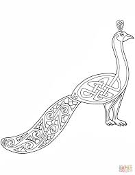 Small Picture Celtic Peacock Design coloring page Free Printable Coloring Pages