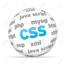 cascade style sheet cascading style sheets 3d sphere on white background stock photo