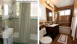 Small Remodeled Bathrooms Before And After Design