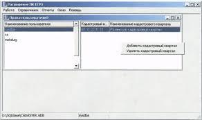 Дипломная работа Государственная кадастровая оценка  В левой части показываются пользователи системы а в правой части кадастровые кварталы которые может редактировать текущий выделенный пользователь