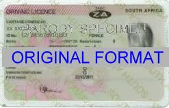 Living Drivers Fake Template South - African License Happy