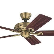 hunter savoy ceiling fan antique brass 52