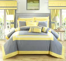 yellow grey bedding sets bedroom blue forter set blue and grey