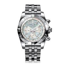 breitling chronomat watches the watch gallery® breitling chronomat automatic stainless steel mother of pearl dial mens watch ab011053 g686