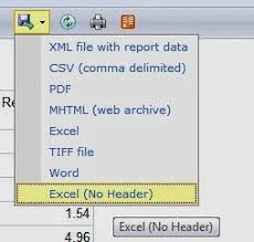 Jayson Seaver BI: Tips and Tricks: SSRS Exporting Options for Excel