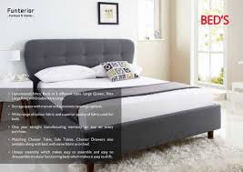 king size fabric bed frame with storage awesome funterior wooden double bed rs piece funterior designs