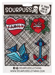 Sourpuss Tattoo Flash Lil Punker Patch Set