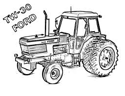 Tw 30 Ford Coloring Pages Coloring Tractor Coloring Pages