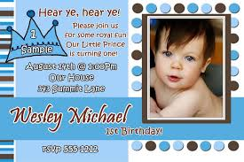 1st birthday invitation card baby boy first ebay