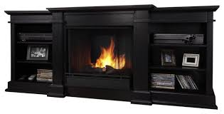 Real Flame Fresno Indoor Gel TV Stand Fireplace - Traditional ...