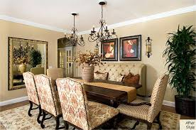 another dining room with two chandeliers i love that look