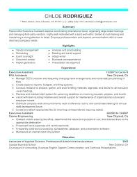 Sample Personal Assistant Resumes Executive Resume J Example