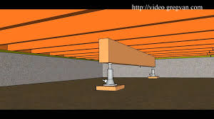 jacking up floor joists crawl space. Fine Floor How To Use Beam And Jack To Raise Multiple Floor Joist U2013 Crawlspace Repairs   YouTube For Jacking Up Joists Crawl Space A