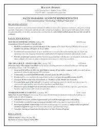 Inside Sales Resume Outside Representative Rep Sample Retail ...