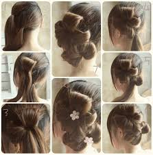 Flower Hair Style flower bun hair style tutorial step by step b & g fashion 6900 by wearticles.com