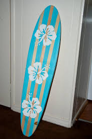 trusted surfboard wall art vintage light blue hibiscus flower surf cheerful local 4 australium surfboardwallart com uk nz san go maui idea hanging