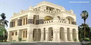 6550 sq ft luxurious house design in kerala colonial style