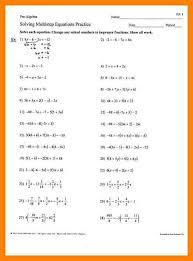 6 solve multi step equations worksheet