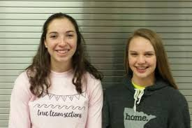 """Lauren Russell and Sidney Johnson: Alexandria Cardinal """"Athletes of the  Week"""", presented by Quality Toyota of Fergus Falls 