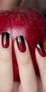 Red Black Nails Nehty Negle Neglekunst A Nailart