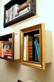 4 use old picture frames to create shelves