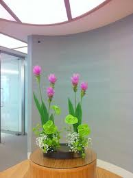 office flower arrangements. Ikebana By Junko, Japanese Flower Arrangement Art Of Ikebana, Company Office Flowers - Junko Arrangements A