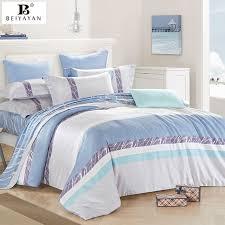 4PCS Europe style stripe quilt cover branch bed sheets bedding ... & 4PCS Europe style stripe quilt cover branch bed sheets bedding sets 100%  cotton sabanas de Adamdwight.com