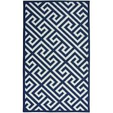 greek key area rug black