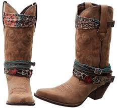 women s accessorized faux leather western boot by durango