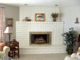 painting brick fireplace white painted the brick fireplace surround wood mantel and tiled hearth with two
