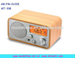 fresh wooden clock radio digital am fm alarm with built in speaker usb red australium