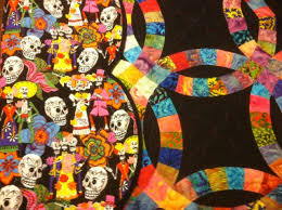 A Few Words About Judged Quilts Part 2 – Starting to Get the Hang ... & Day of the Dead Backing Fabric Adamdwight.com