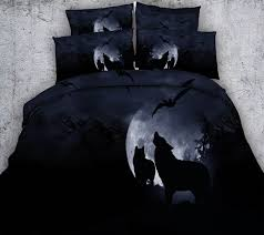 moon y wolf bat black bedding sets 3d print comforter cover intended for set twin plan 7
