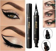 2 in 1 black liquid eyeliner wing seal st pencil quick dry waterproof makeup at banggood