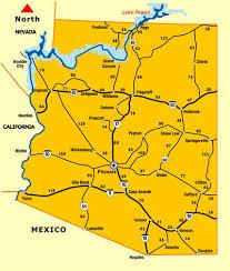 Arizona Distance Map Driving Distance Map