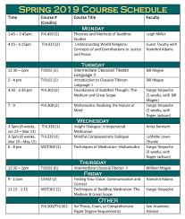 Spring 2019 Course Schedule Registration Maitripa College