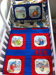 38 best Paddington quilts images on Pinterest | Paddington bear ... & Paddington Bear cot-bed quilt and matching pillow-case. Personalised with  name. Adamdwight.com